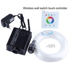 16 W RGBW 2.4G wireless interruttore della parete touch controller LED Fibra ottica light Kit del Soffitto della Stella Luci 450 pz 0.75mm 3 M + crystal(China (Mainland))