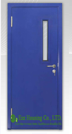 UL Label Steel Fire Rated Door With Glass Vision For Commercial Building Sch