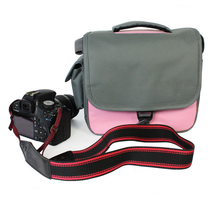 2016 New Pink Camera Case Bag Portable Storage Bag for Nikon DSLR D5200 D5100 D7100 D7000 D3200 D3100 Pink #ED105(China (Mainland))