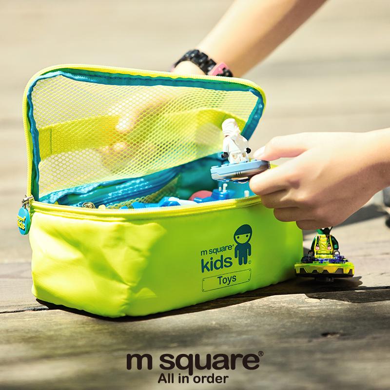 M Square Kids Travel Cosmetic Bag Organizer Storage Bag Toy Organizadore Pouch Multifunction Storage Bag(China (Mainland))