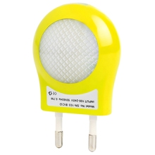 Universal LED Night Light Children AC 100V-240V 0.7W Light Sensor Smart Dream Bed Lamps 4 Colors EU Plug led Night lights #KF(China (Mainland))