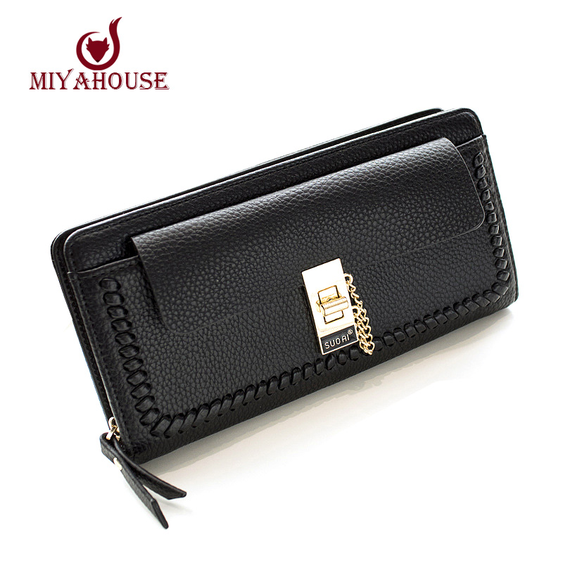 High Capacity Women Zipper Wallet Long Design Hasp Purses Female Card Holder Wallet With Coin Purse PU Leather Lady Clutch Purse(China (Mainland))
