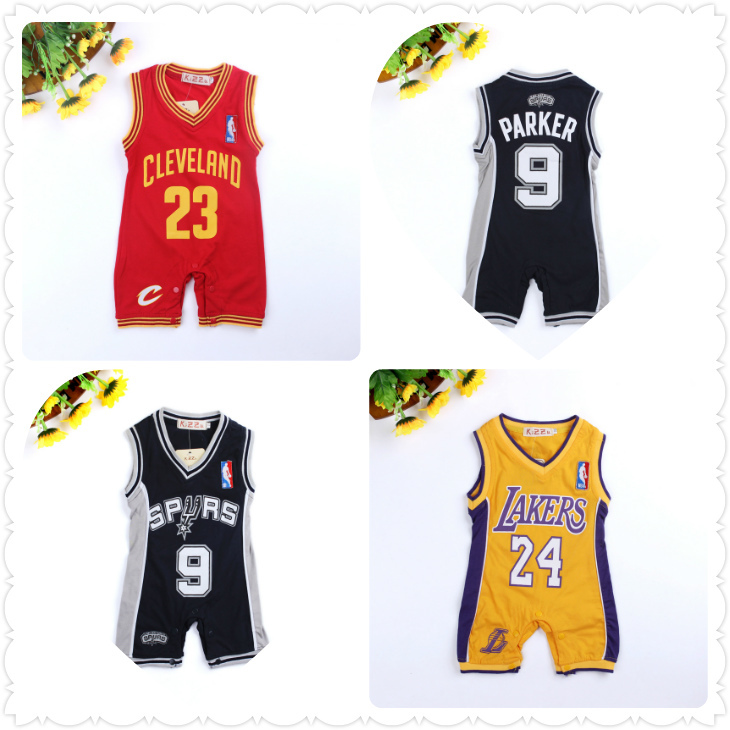 2015 Summer New Style Baby Boys Rompers Basketball sports Sleeveless jumpsuit climbing clothes Newborn one piece - baby-kids store