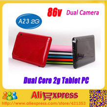 5pcs/lot dhl Free 86V 7inch GSM Phone Call Tablet PC BlueTooth RAM512MB ROM4GB 7 Inch Phone Call Android Tablet PC Sim Card Slot(China (Mainland))