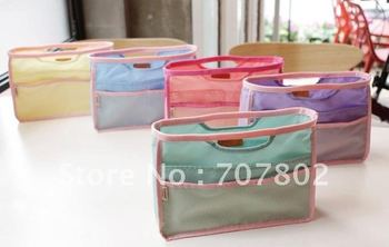 Promotions!!Hot Sale Mixed order Lady's organizer bag/handbag organizer/travel bag organizer insert with pockets/storage bags