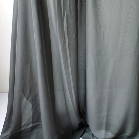 gray chiffon fabric sheer bridal wedding dress lining