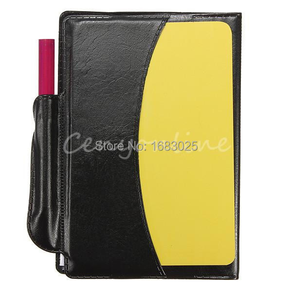 Ball Soccer Sport Match Training Note Notebook Wallet Pad With Yellow Red Card Pencil Sheet Set For Umpire Referee Judge(China (Mainland))