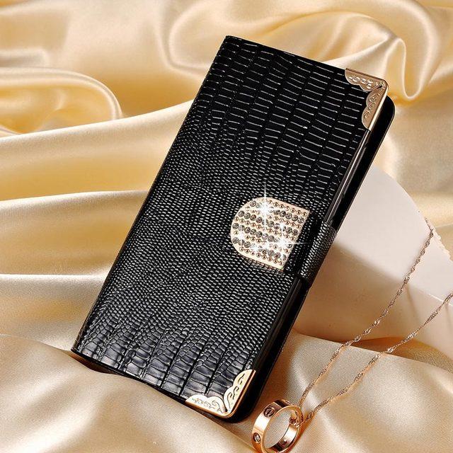 S7 край роскошный PU кожаный бумажник чехол для Samsung Galaxy S7 край G935A коке откидная крышка сияющий кристалл bling-деко с карт памяти новый