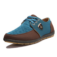 2015 NEW brand Swede Leather casual men's shoe matching flat shoes Men shoes tenis masculino size 39-44