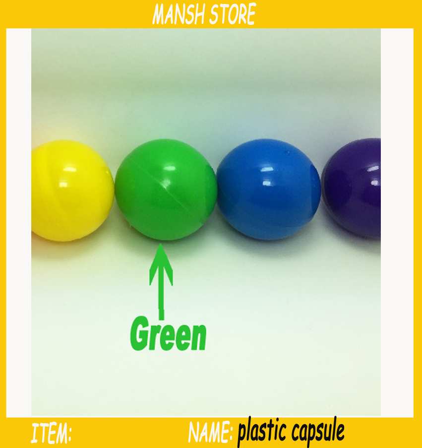32mm Solid Green Empty Plastic Toy Capsule For Vending Machine Green Plastic Ball For Sale 100pcs/lot Free Shipping(China (Mainland))