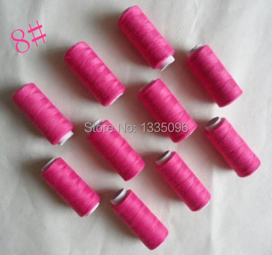 Each spool Free International area 10pcs100% polyester thread 218 yards 8#(China (Mainland))