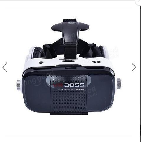 ถูก VR Boss G Oogleความจริงเสมือนเกมเครื่องกระดาษแข็ง3หมวกกันน็อคสมาร์ทแว่นตาพร้อมไมโครโฟน