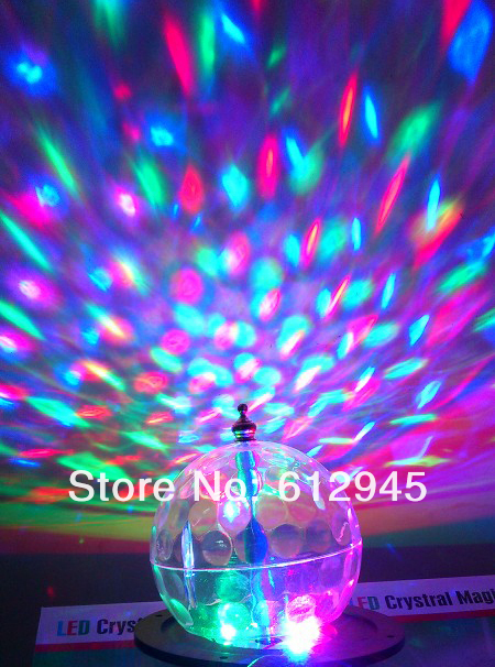 LED RGB Crystal Magic Ball Effect Light Disco DJ Stage Lighting wholesale(China (Mainland))