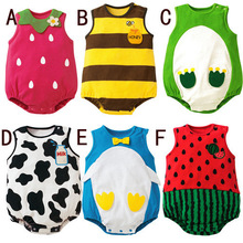 Hot 2015 Summer Babies Jumpsuit For Newborn Rompers For Infants Baby Clothing Newborn Baby Girl Romper Fruits  Jumpsuit Kids Q18(China (Mainland))
