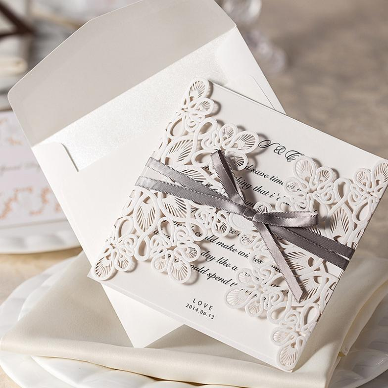 20pcs/Lot Wedding Invitation Card Wedding Cards Invitation 2015 Laser Cut Vintage Wedding Supplies(China (Mainland))