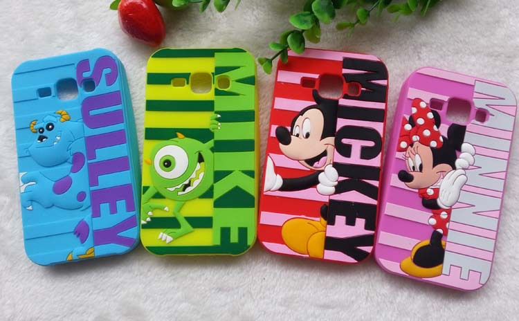 1PCS 3D Cartoon Case For Samsung Galaxy J1 J100 J100F J100H Cute Mickey Minnie Mouse Monsters Silicone Covers Cell Phone Cases(China (Mainland))