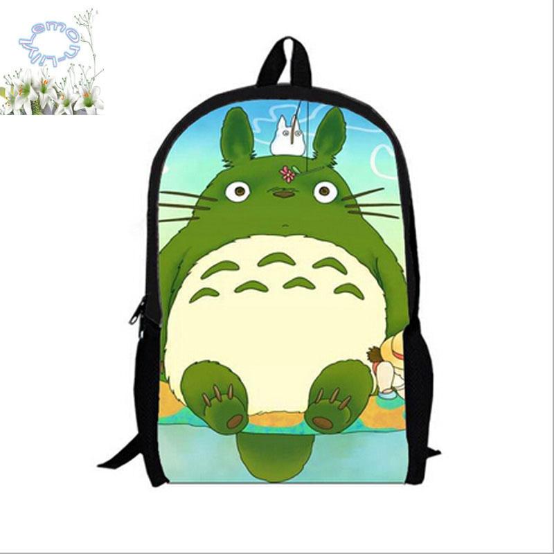 16Inch TOTORO Backpack Mochilas Double Zipper Cartoon Backpack Children Mochila Escolar Schoolbag Travel Bag Free Shipping A125(China (Mainland))