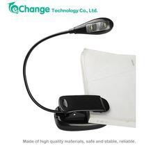 Nero flessibile 2 led clip light on notebook scrivania lampada EB1037(China (Mainland))
