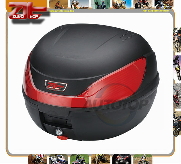 Black Motorcycle Scooter Top Cases Moped Dual sport Trunk AT2308(China (Mainland))