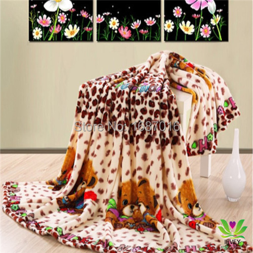 hot new products for 2015 children Brown Bear fleece blanket on the bed free shipping(China (Mainland))