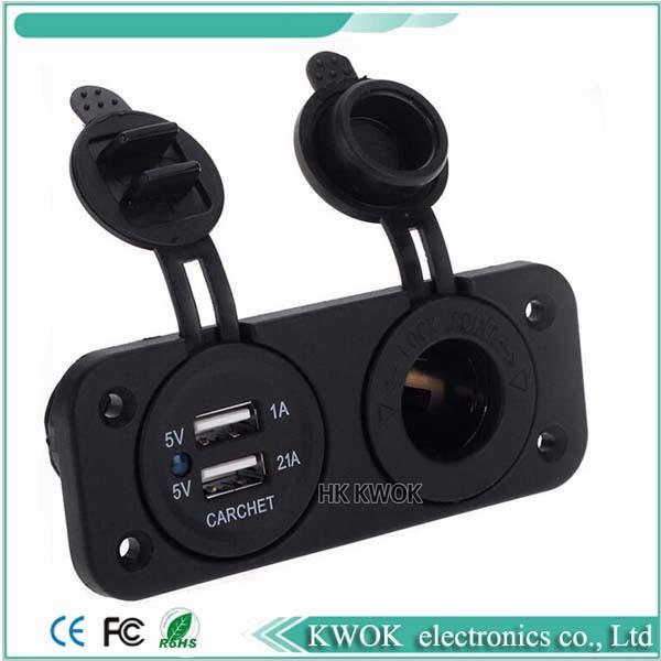 купить Прикуриватель в авто Brand New Socket 12V USB 2.1A 1A недорого