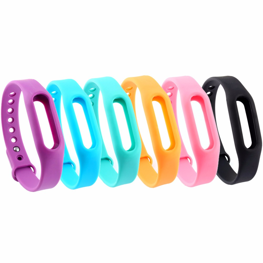 Colorful Replace For Xiaomi Mi Band Smart Wristband Silicone Belt Strap For Xiaomi Mi Band Bracelet Replacement Band Accessories