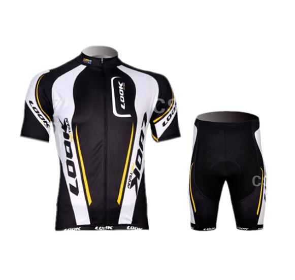 2015 New LOOK men's sports Cycling Clothing jersey bicycle bike wear shirt & bib shorts & Shorts Size :XXS-5XL(China (Mainland))