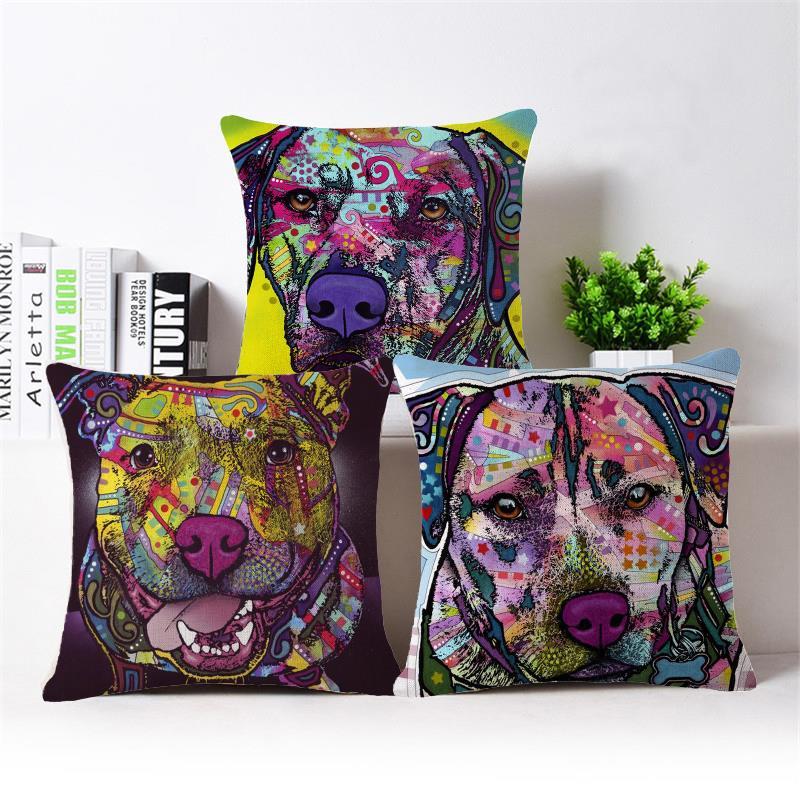 Corgi Dog Cushion Covers Home Decorative Throw Pillow Covers Burlap Cheap Decor Pillows For Couch Car-Covers Cushions Home Decor(China (Mainland))