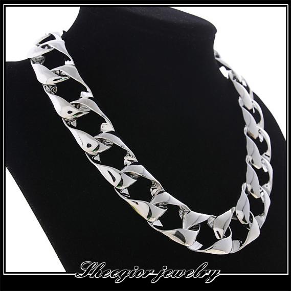 Smooth Bright choker neacklace big brand collar bijou big necklace women men fine jewelry vintage gold silver charm accessory<br><br>Aliexpress