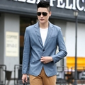Casual Men Leather Suit Long Sleeve Two Buttons Men s Blazers Faux Leather Jacket Slim Fit