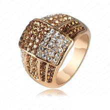 Trendy New Jewellery Ring 18K Gold Plated Women Rings Made With Genuine  Element Austrian Crystal Wholesale 22*18mm Ri-HQ0020(China (Mainland))