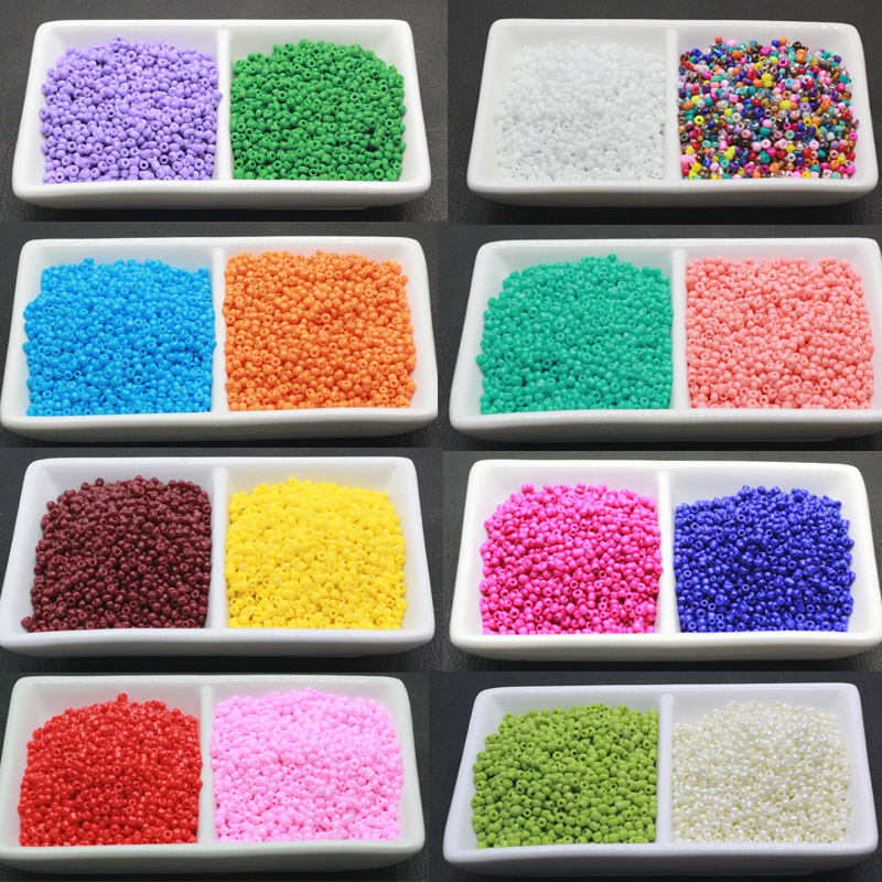 17 color New 2mm 2000 Pcs DIY/Handmade Round Czech Crystal Glass Spacer Loose Seed Beads Jewelry making BLMZ02(China (Mainland))