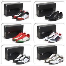 Italy 2015 MASERATI fashion Sneakers sneaker men Genuine Leather shoes sports shoes comfortable Racing shoes big size