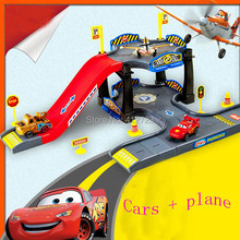 New arrival !!!4 Cars Pixar Automobile Race DIY Parking Model Educational Toys for Children Gift Packeting,best Christmas gift(China (Mainland))