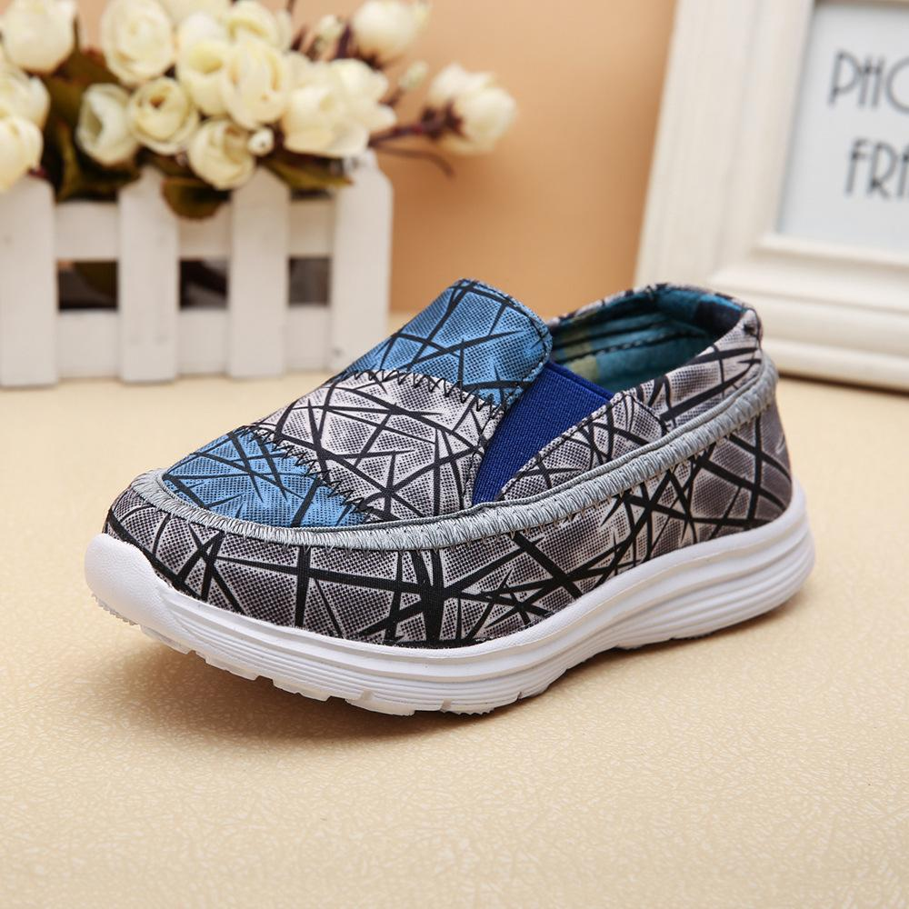 Female children age season spring 2015 new children's shoes and children shoes children canvas shoes The boy single shoes(China (Mainland))