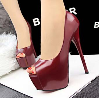 16 CM Summer Sexy Club Women Pumps Super High Heels Shoes Woman Peep Toe Platform Shoes Leather Party Wedding Shoes Thin Heels<br><br>Aliexpress