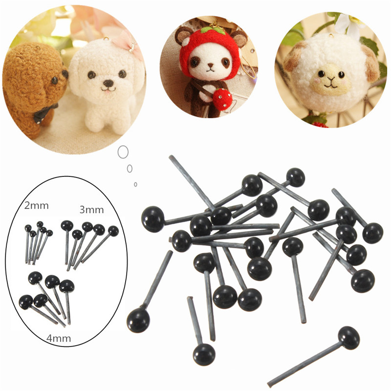2015 New Arrival 150Pairs/Lot Glass Flat Eyes Kit 2/3/4mm For Needle Felting Craft Baby Animals Dolls DIY Accessories(China (Mainland))