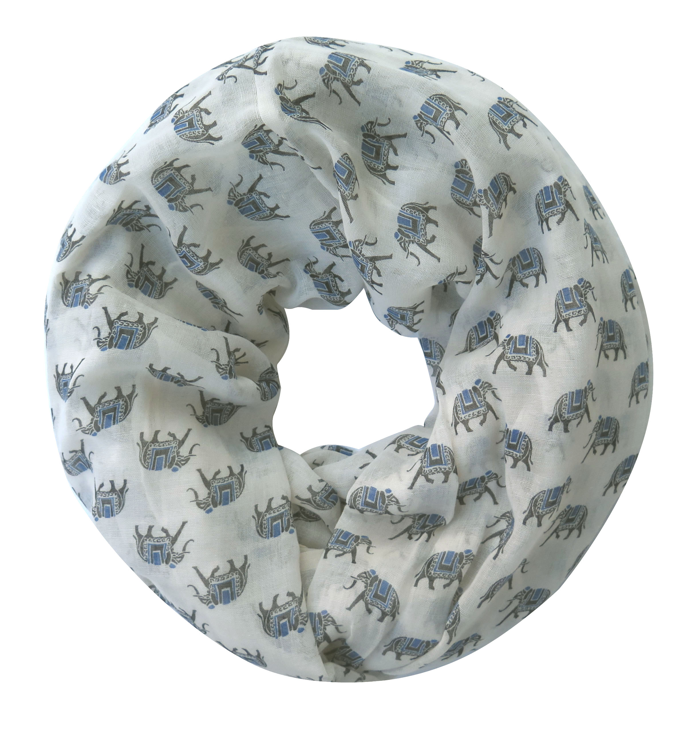 Small Elephant Animal Print Infinity Circle Loop Scarf Women's Accessories Gift Soft Lightweight, Free Shipping(China (Mainland))