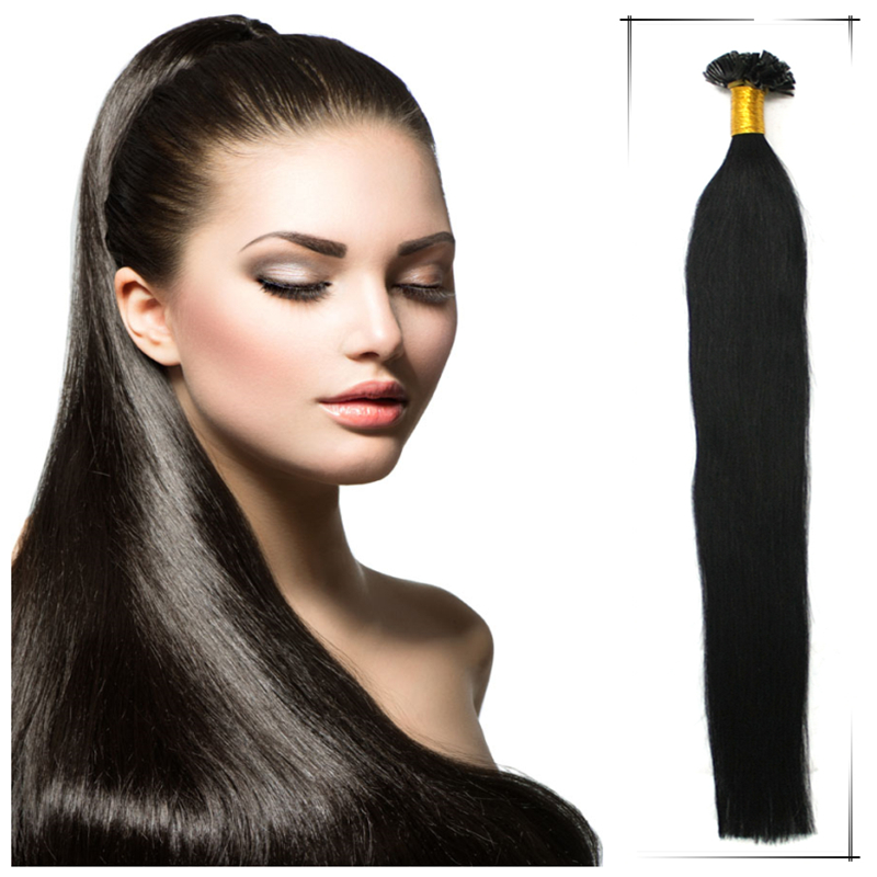 Wholesale Maxim Volume Straight Brazilian Human Keratin Tip Hair Extension 20Inch 1g/s Shedding Free Natural Hair Extensions(China (Mainland))