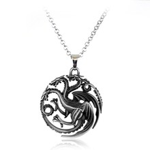 Juego de tronos familia descarnada León Dragón, Lobo ciervo Lannister Targaryen Stark Baratheon Arryn Greyjoy los miembros de la familia collar(China)