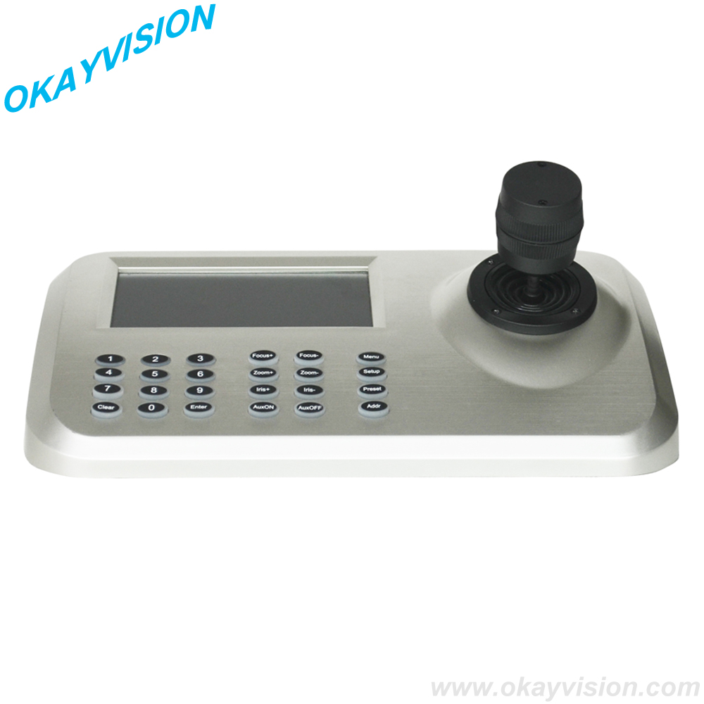 """Support USB and HDMI output 5""""color LED display 3D jostick CCTV PTZ Controller Network Keyboard(China (Mainland))"""