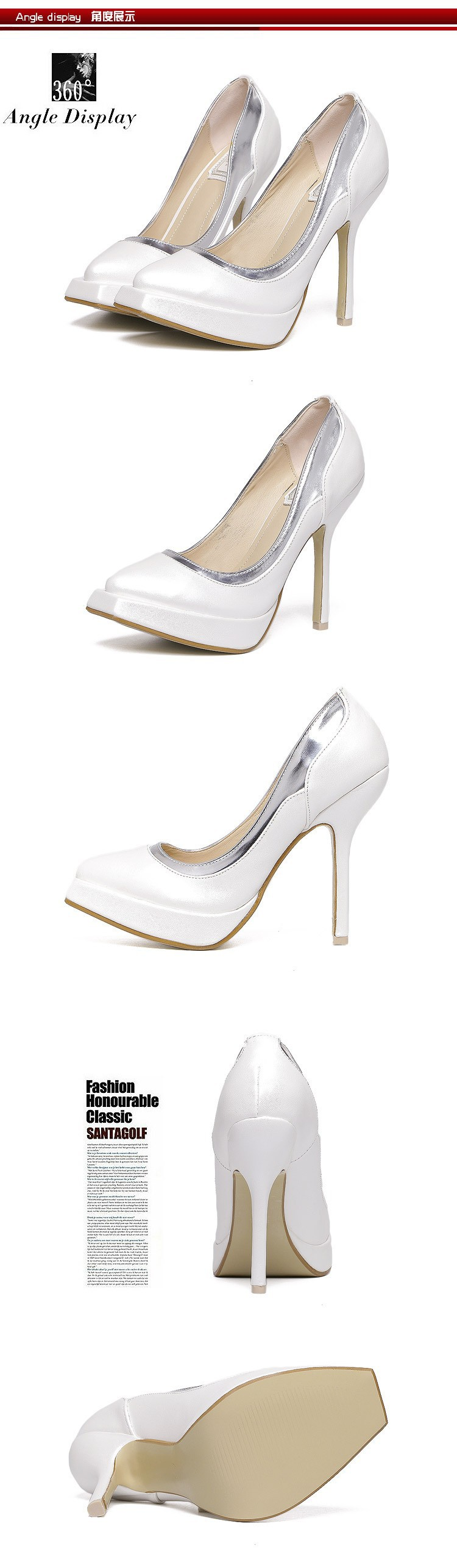 Size 4~8 Pink Elegant Sexy High Heels Women Pumps Wedding Women Shoes zapatos mujer New Arrival