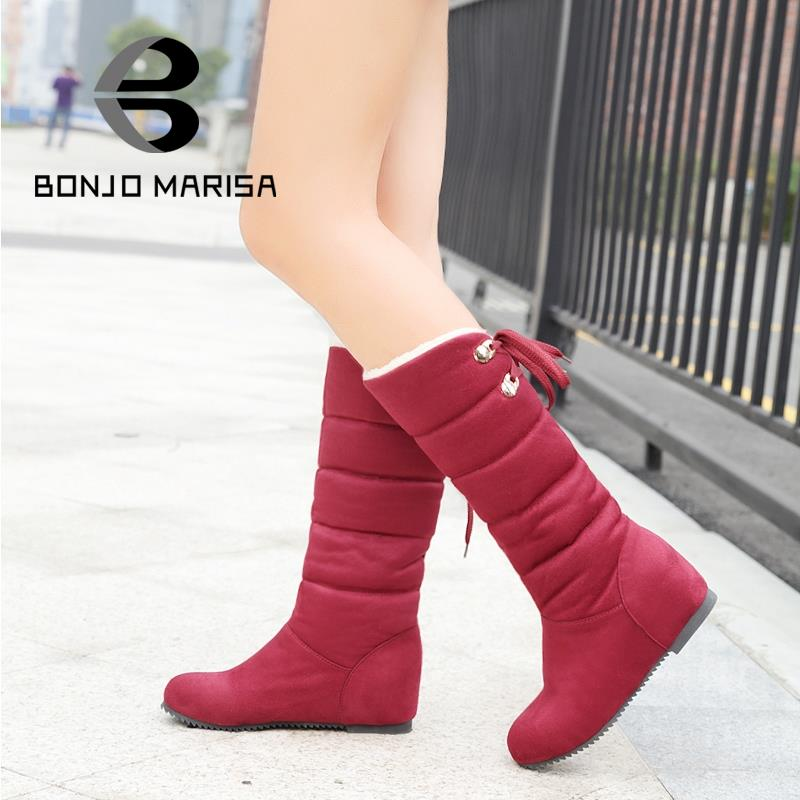 Plus Size 32- 43 Brand New Nubuck Leather Snow Boots For Women Casual Dress Winter Shoes Thick Warm Fur Inside Round Toe WB840(China (Mainland))