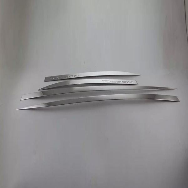 Car Body Strip Stainless Steel Door Moulding Cover for Hyundai Tucson 2015(China (Mainland))