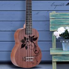 """High Quality 21"""" Mini Sapele Ukulele Ukelele Rosewood Fingerboard Mahogany Neck Delicate Tuning Peg Nylon String Matte Kids Gift(China (Mainland))"""