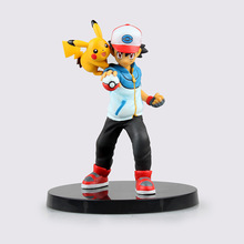 14cm Size Boxed Anime Pokemon Go Pikachu Red PVC Action Figure Collection Model Toy
