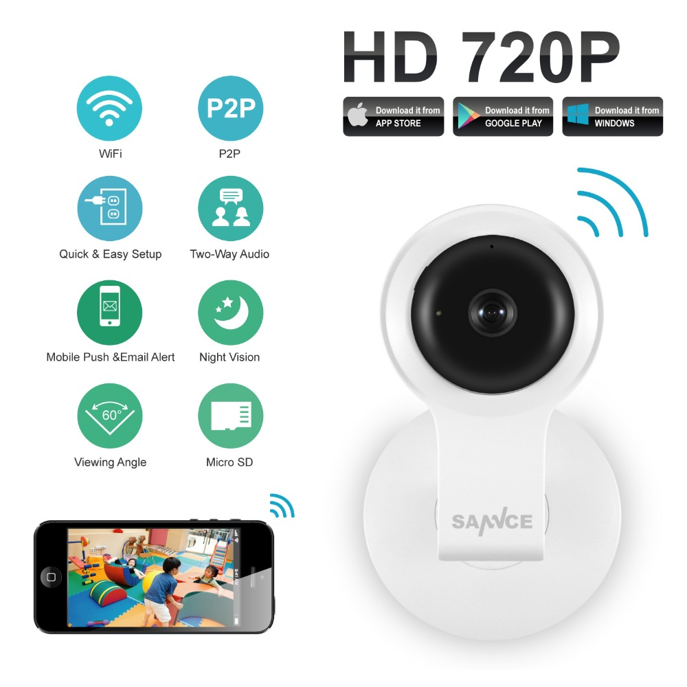SANNCE 720P HD Wifi IP Camera Wireless 1MP Smart P2P Network Monitor CCTV Security Camera Home Protection Mobile Remote Cam(China (Mainland))