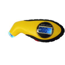 New Car Digital Tire Gauge Tyre Air Pressure Measure Tester LCD Display PSI BAR KPA Setting For Auto Moto With Light(China (Mainland))