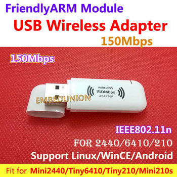 Wireless 11n Wi-Fi USB Adapter 150M Wifi Wireless USB Adapter Fit for MINI2440 TINY6410Tiny210 MINI210 For Android,Linux,WinCE