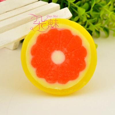 4pcs/lot Cartoon Children/baby Cute Fruit Soap Handmade Whitening Essential Oil Soap cheap lemon